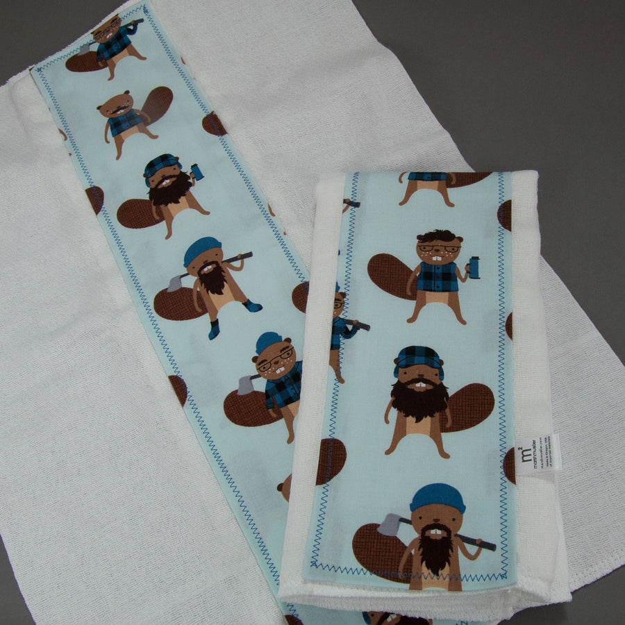 Logger Beavers Burp Cloth Set, Burp Cloth Set, - MarshMueller