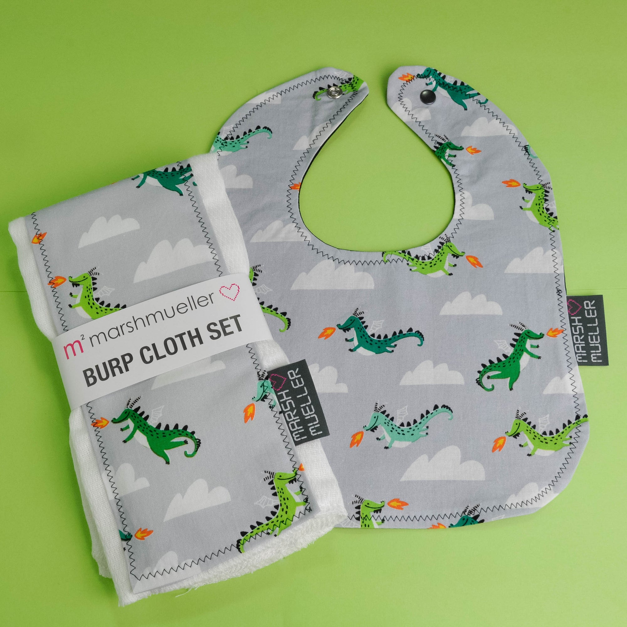 Mother of Dragons Bib and Burp Cloth Bundle