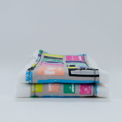 Mix Tape Multi Burp Cloth Set, Burp Cloth Set, - MarshMueller