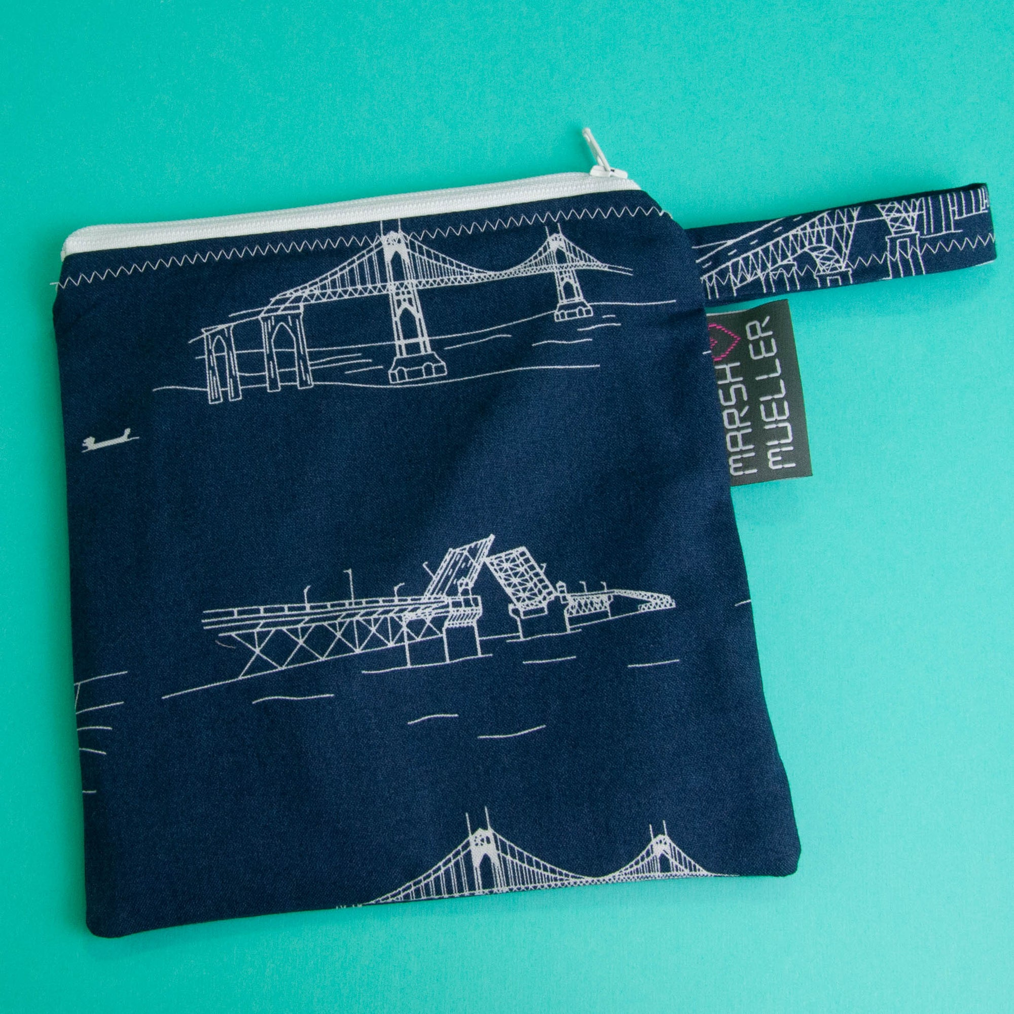 Navy Bridgetown Reusable Sandwich Bag