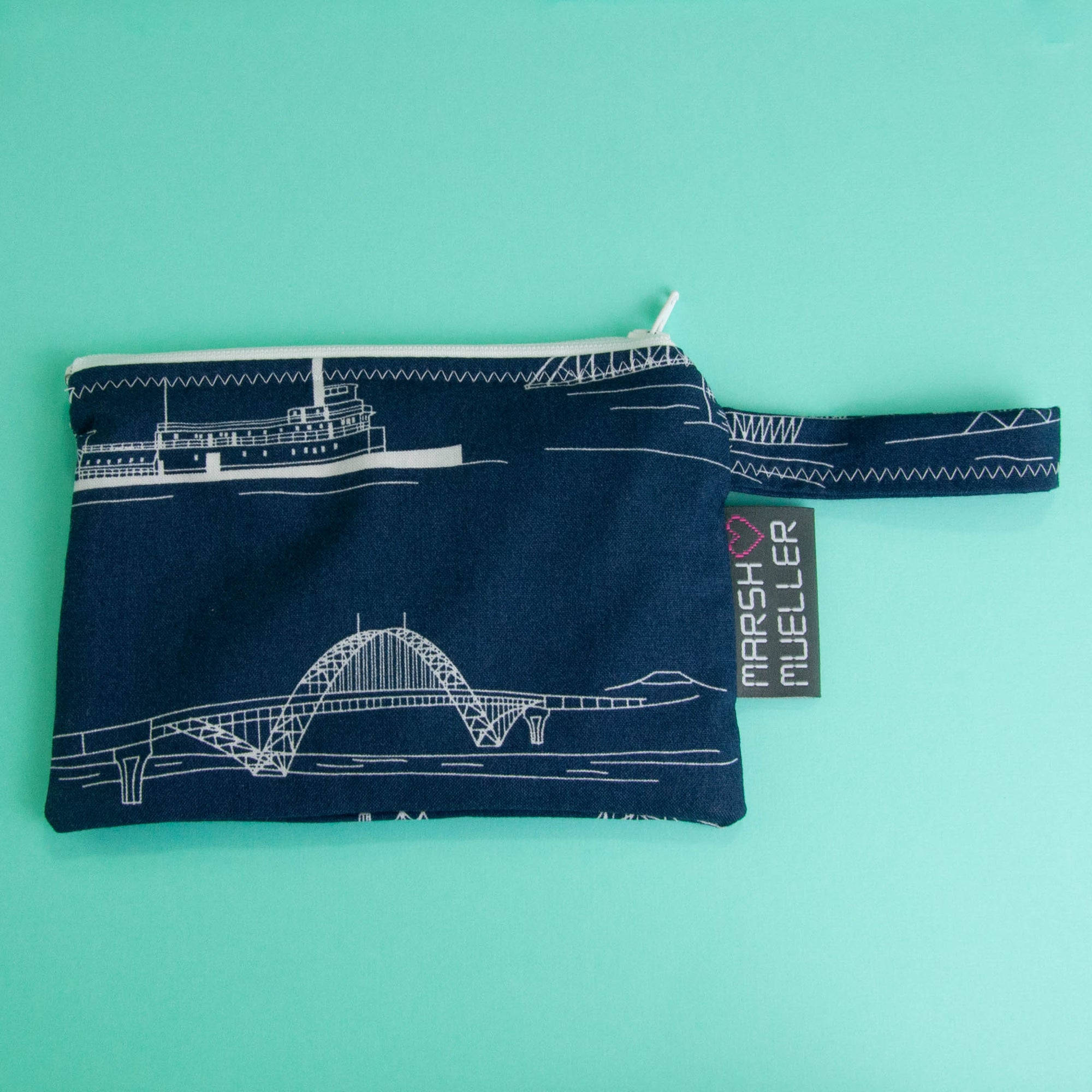 Navy Bridgetown Reusable Snack Bag