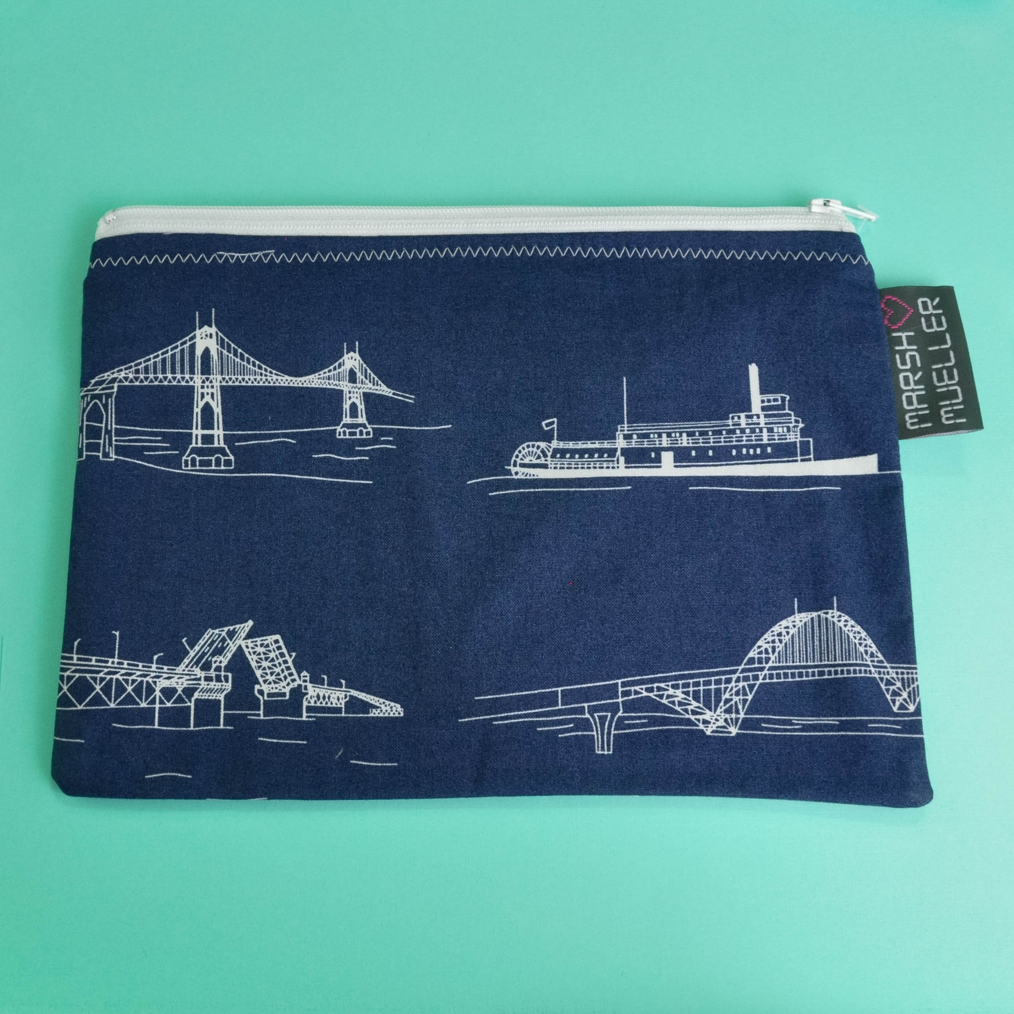 Navy Bridgetown Zippy Bag