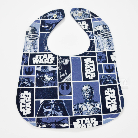 Navy Star Wars Bib