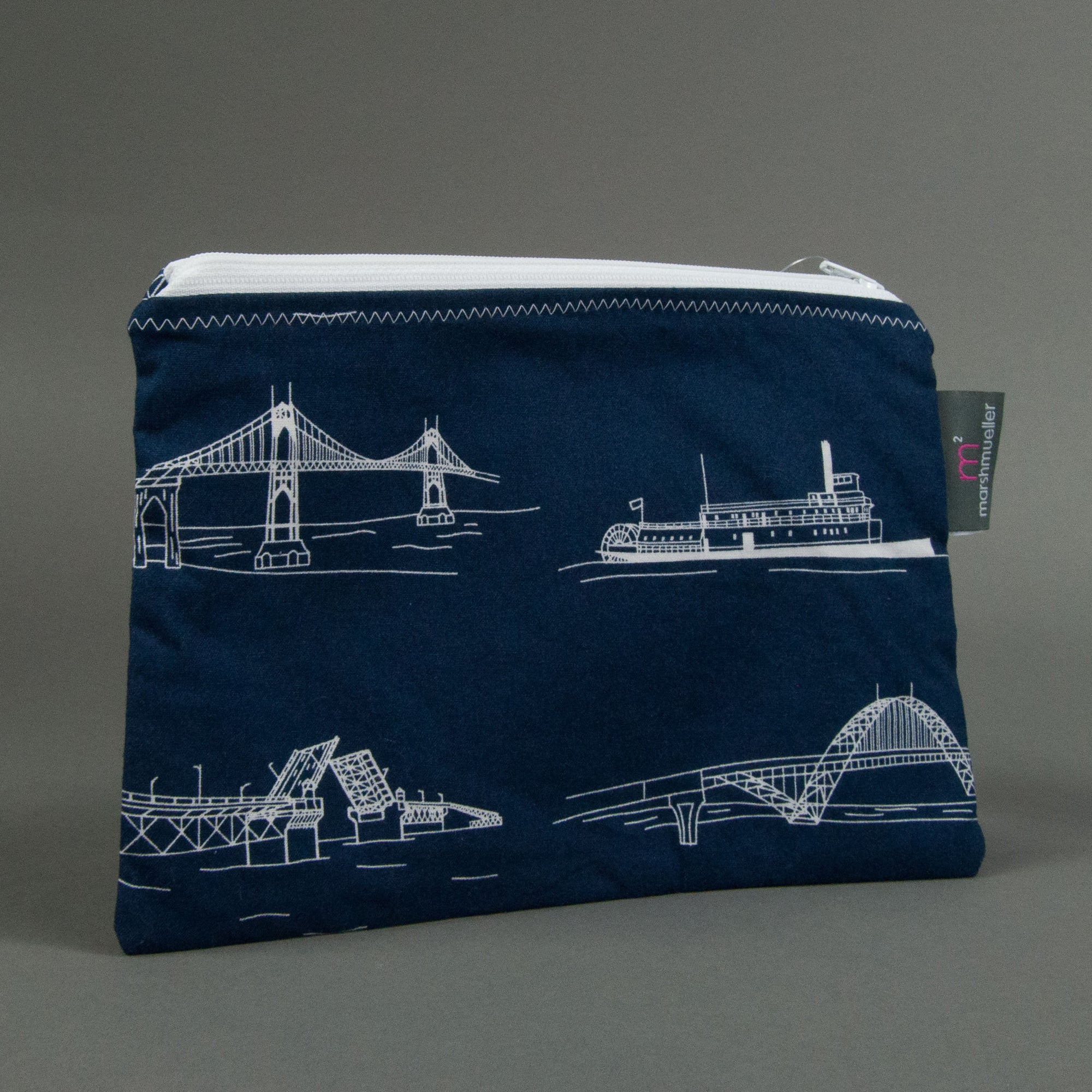 Navy Bridgetown Zippy Bag, Zippy Bag, - MarshMueller