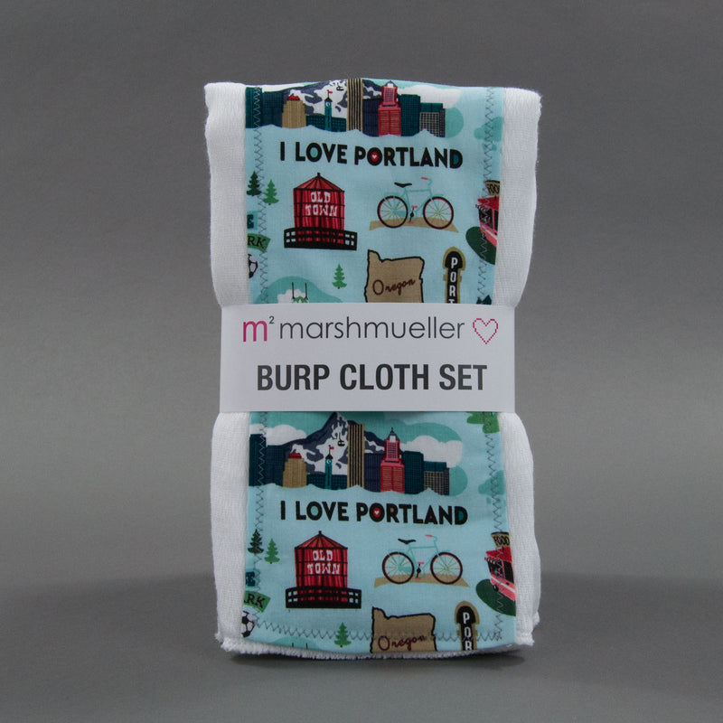 Oregon Burp Cloth Set