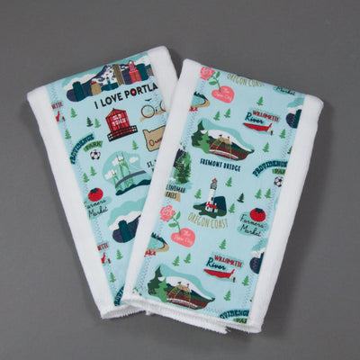 Oregon Burp Cloth Set, Burp Cloth Set, - MarshMueller
