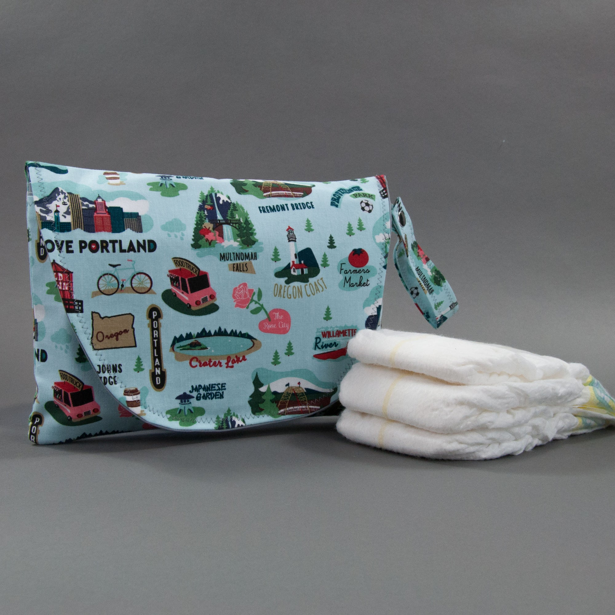 Oregon Diaper + Wipe Clutch, Diaper + Wipe Clutch, - MarshMueller