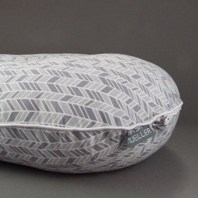 Organic Grey Herringbone Boppy Cover, Boppy Cover, - MarshMueller