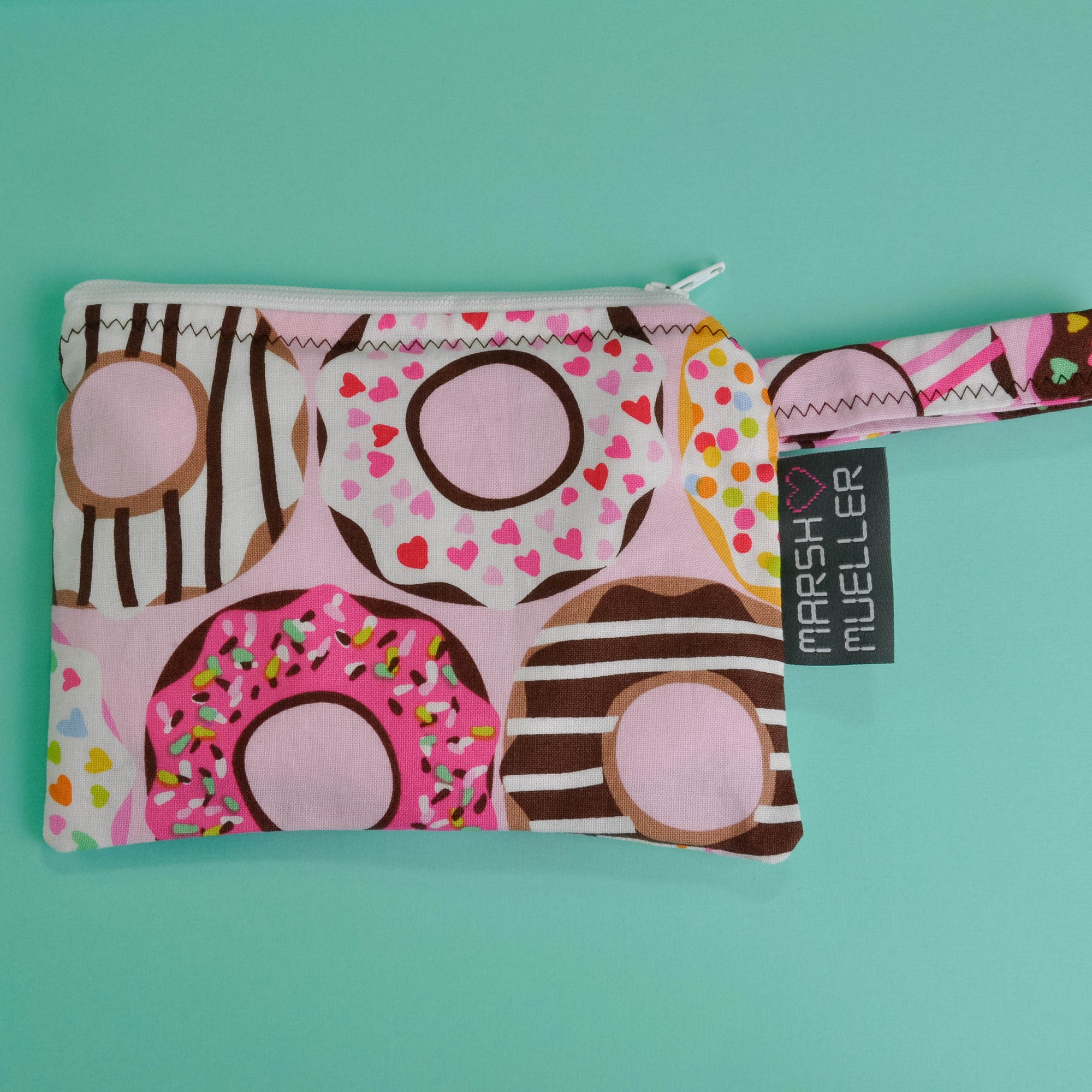 Pink Doughnuts Reusable Snack Bag