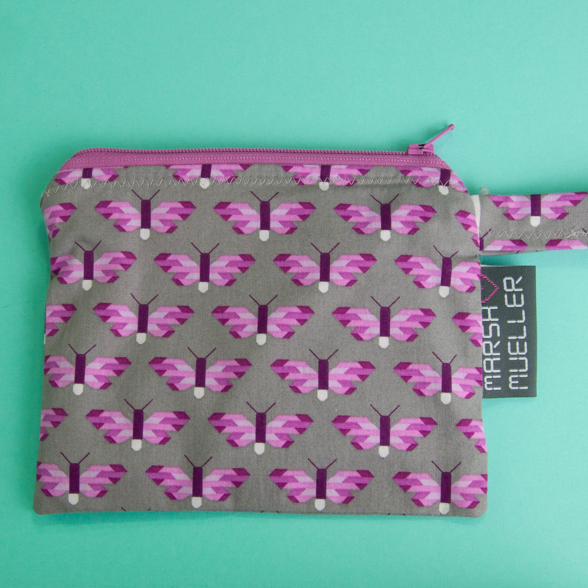 Pixelated Butterfly Reusable Snack Bag