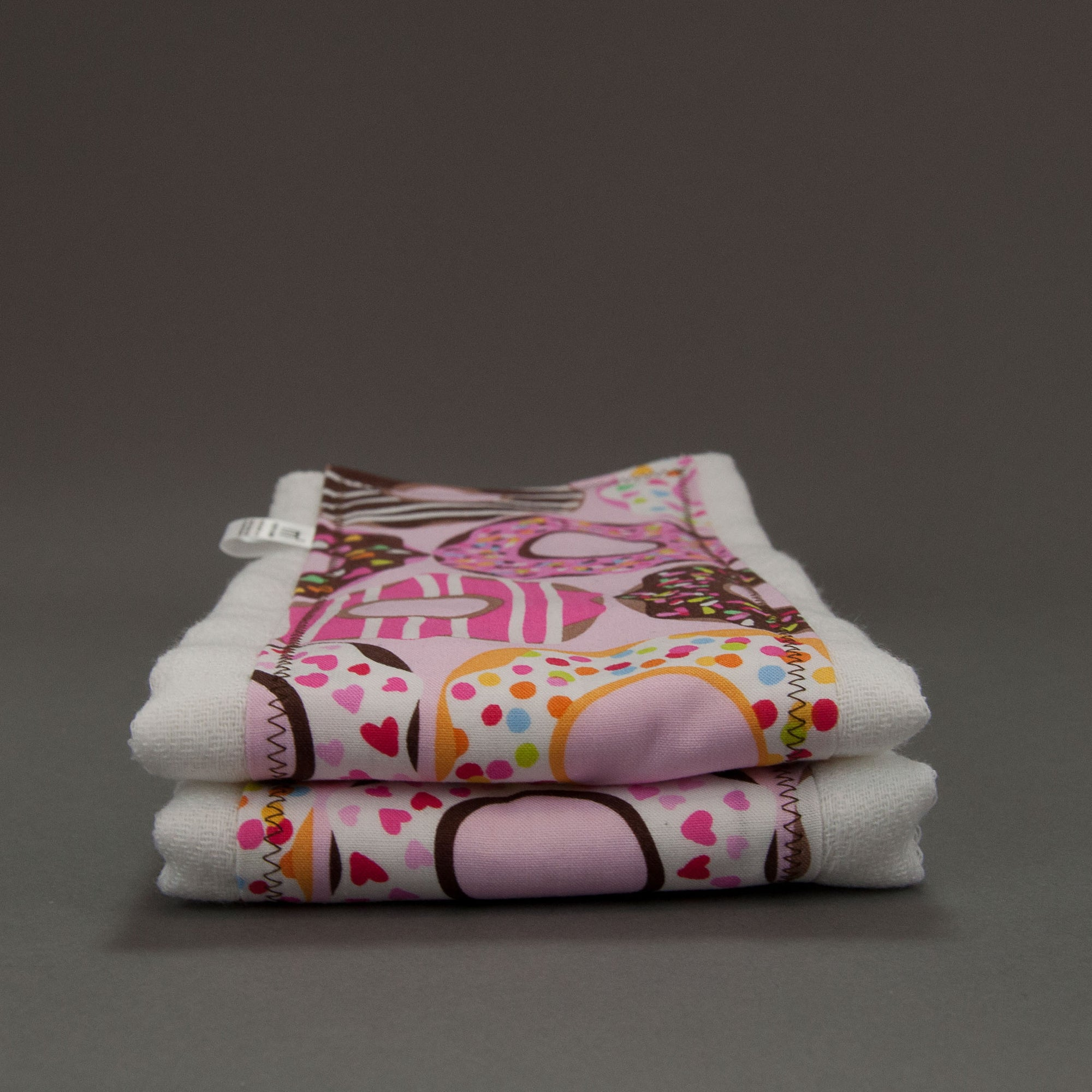 Pink Doughnuts Burp Cloth Set, Burp Cloth Set, - MarshMueller
