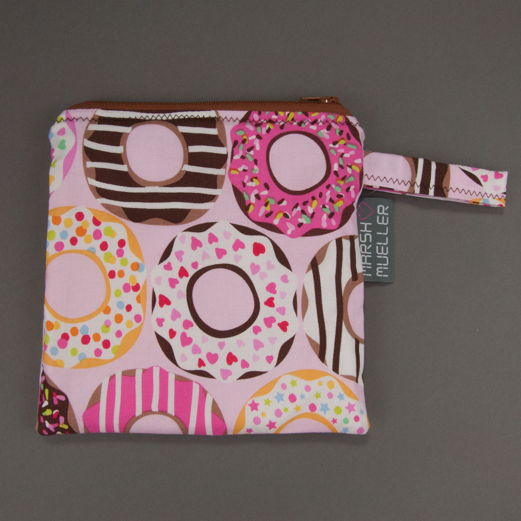 Pink Doughnuts Reusable Sandwich Bag
