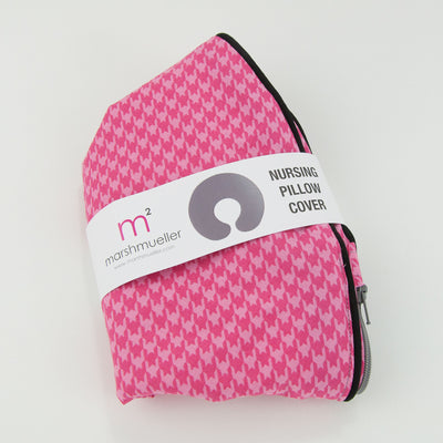 Pink Houndstooth Boppy Cover, Boppy Cover, - MarshMueller