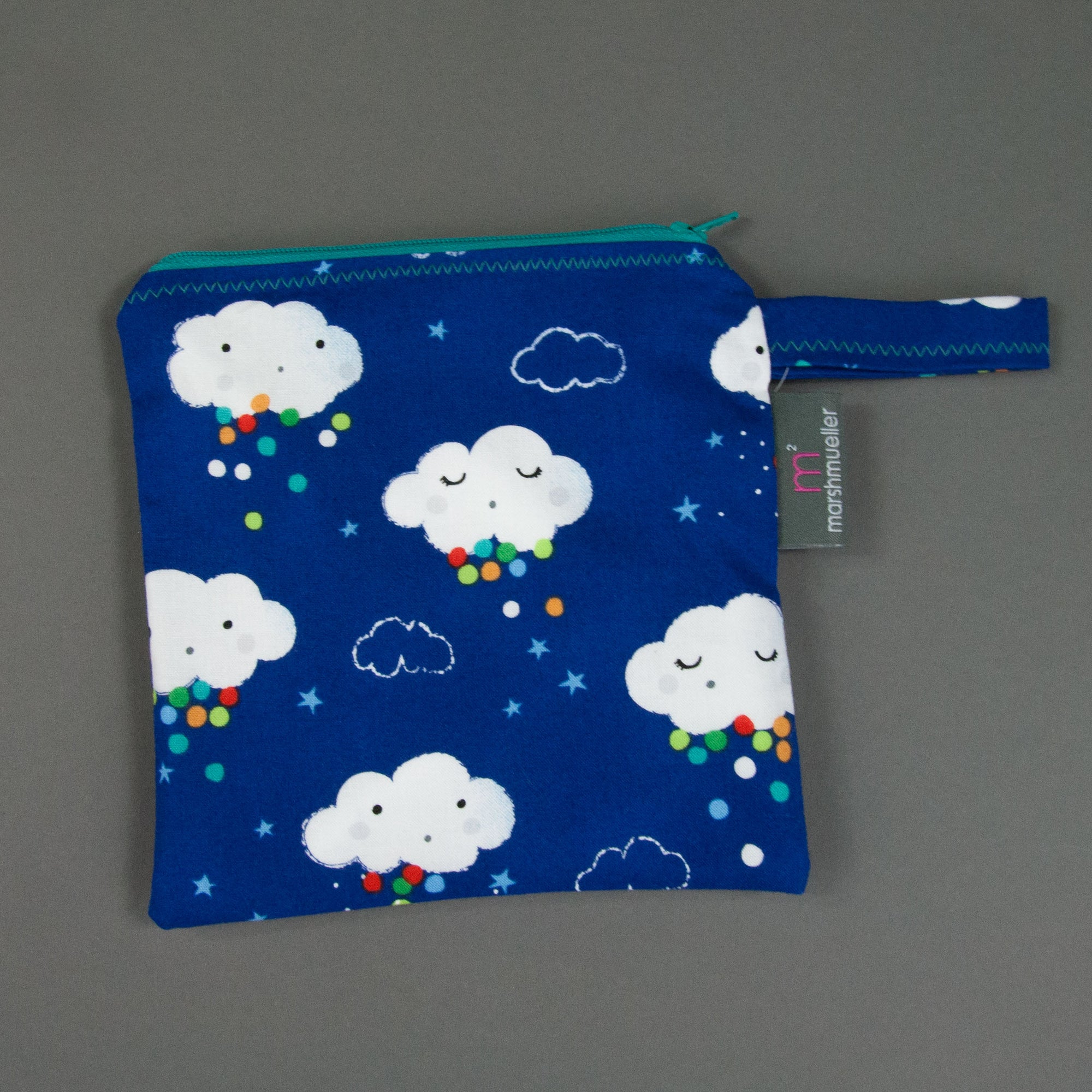 Blue Rain Clouds Reusable Sandwich Bag, Reusable Sandwich Bag, - MarshMueller