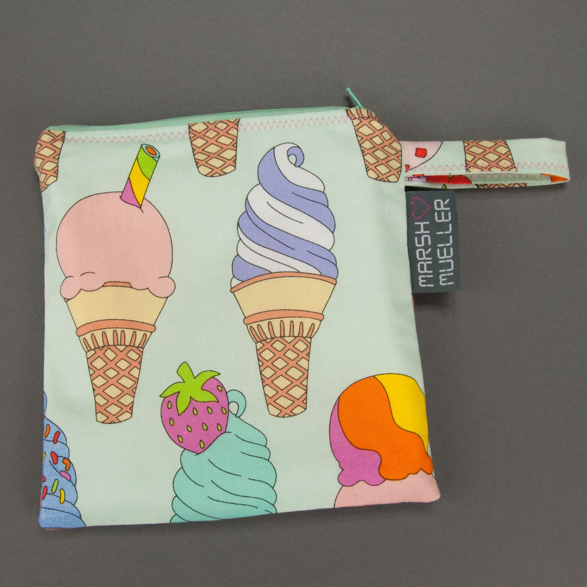 I Scream, You Scream Reusable Sandwich Bag, Reusable Sandwich Bag, - MarshMueller
