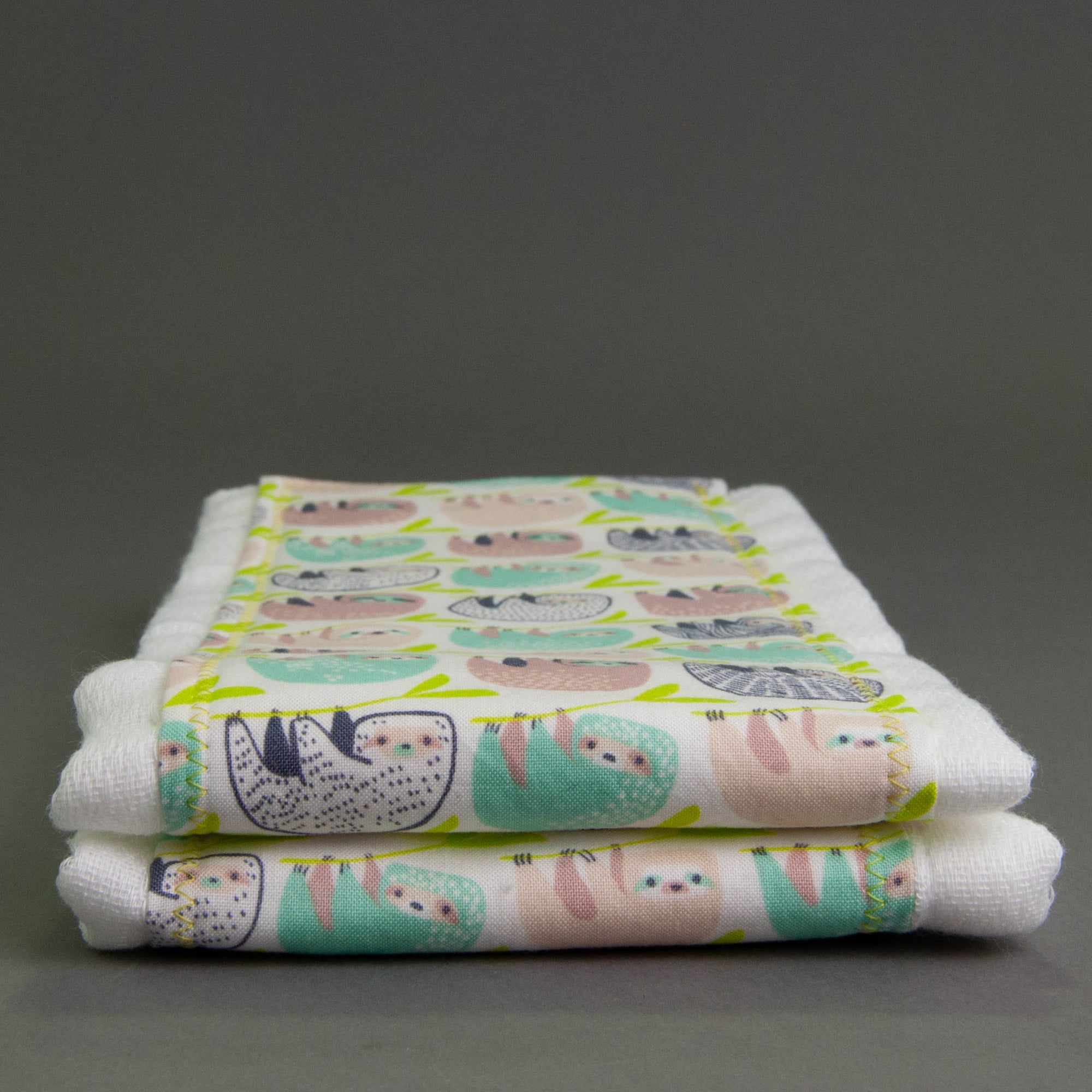 Sloths Burp Cloth Set
