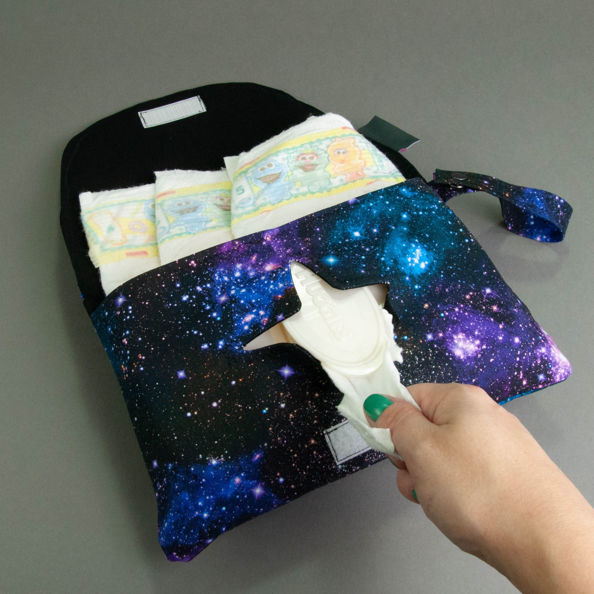 Stargazers Diaper + Wipe Clutch