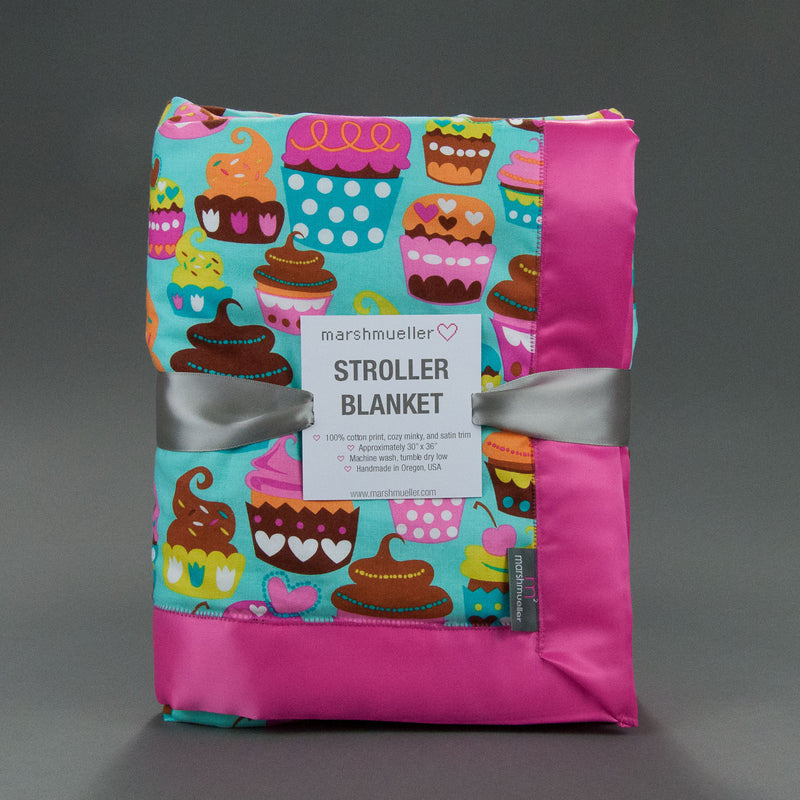 Sweet Cuppin' Cakes Stroller Blanket