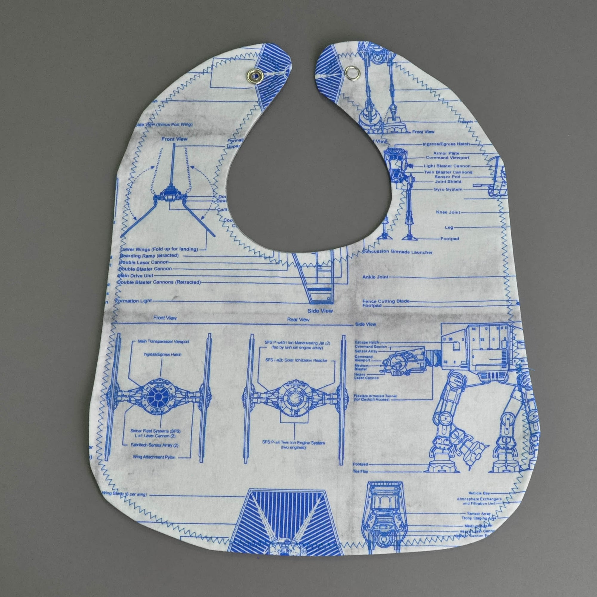 Star Wars Blueprint Bib