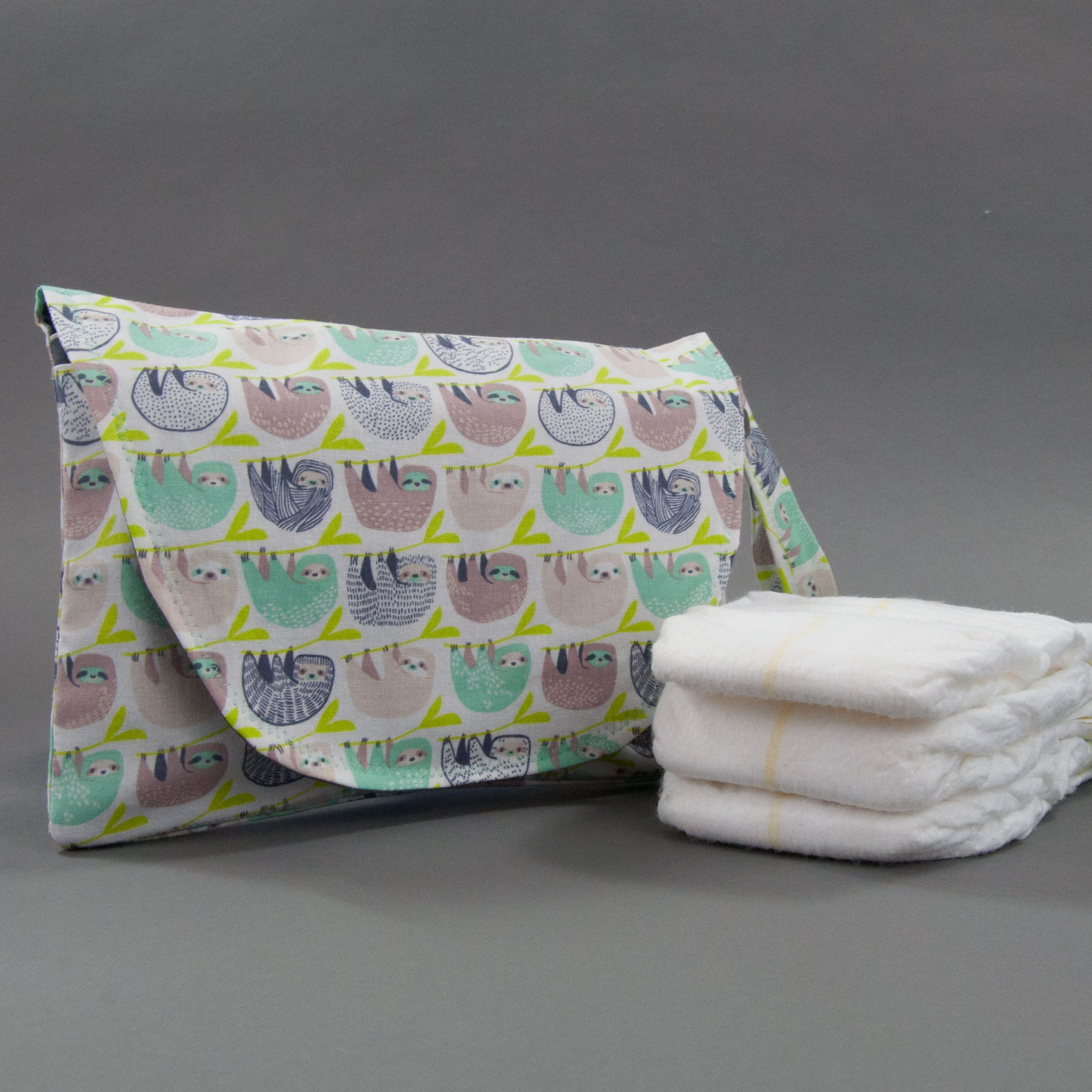 Sloths Diaper + Wipe Clutch, Diaper + Wipe Clutch, - MarshMueller