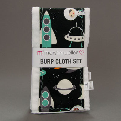 Space Explorers Burp Cloth Set, Burp Cloth Set, - MarshMueller