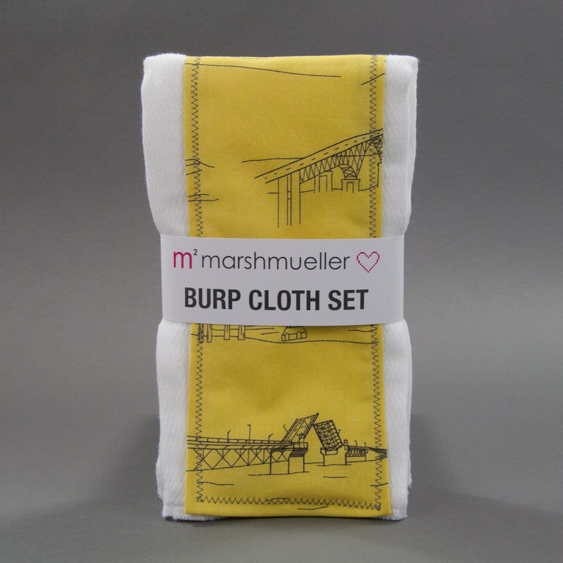 Starfruit Bridgetown Burp Cloth Set - MarshMueller