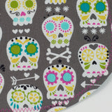 Sugar Skulls Grey Bib by MarshMueller