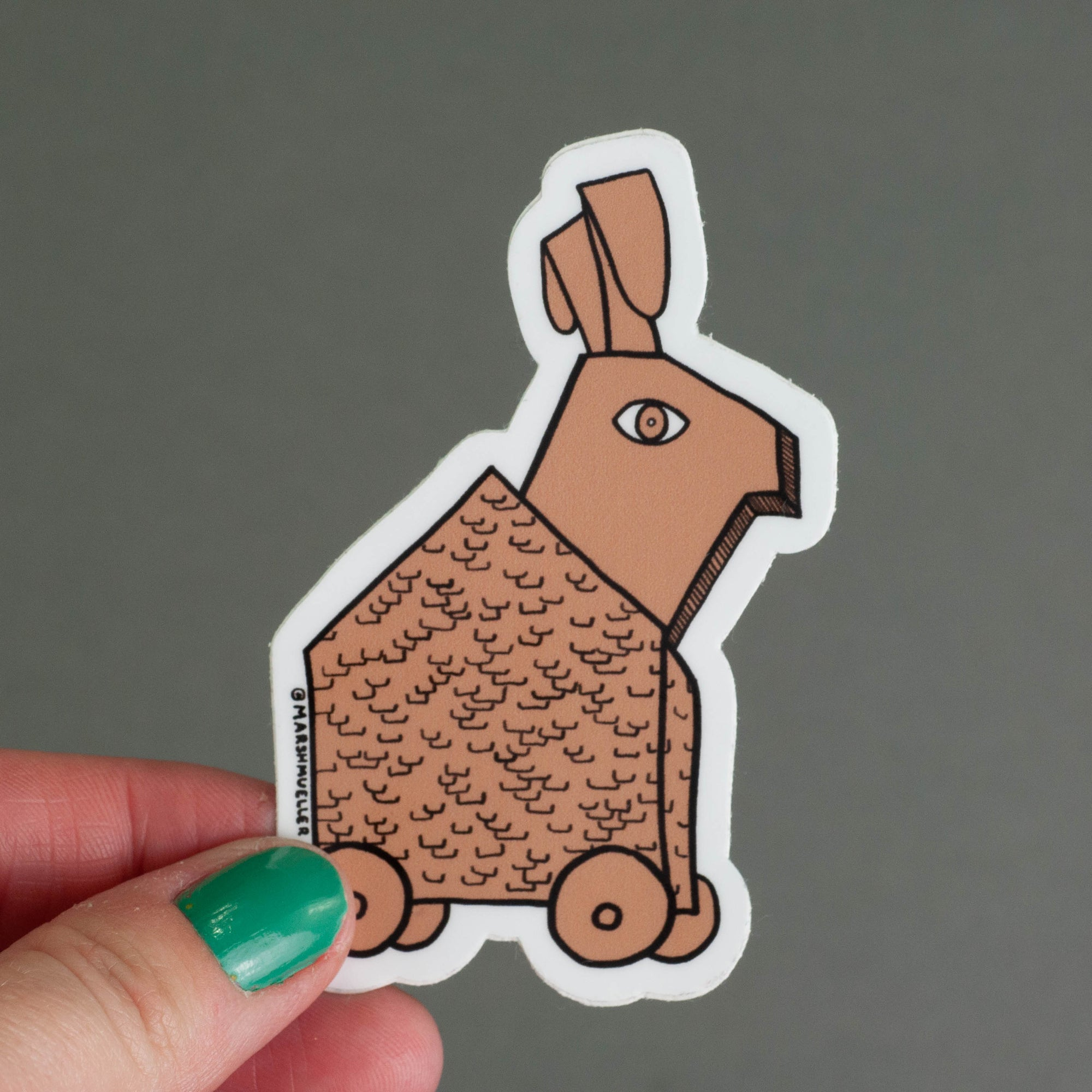 Trojan Rabbit Sticker