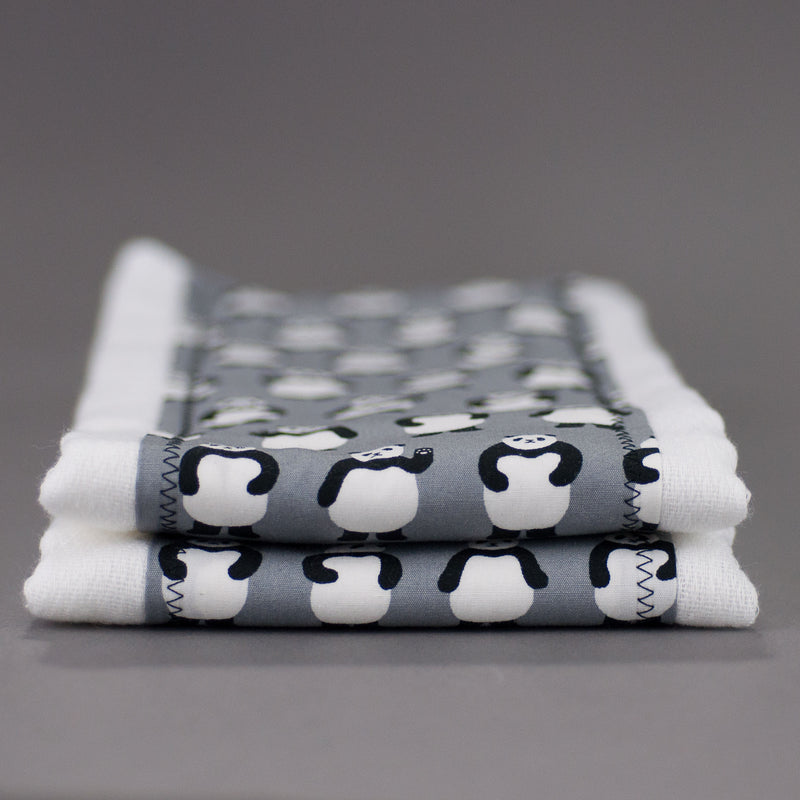 Teeny Panda Bears Burp Cloth Set