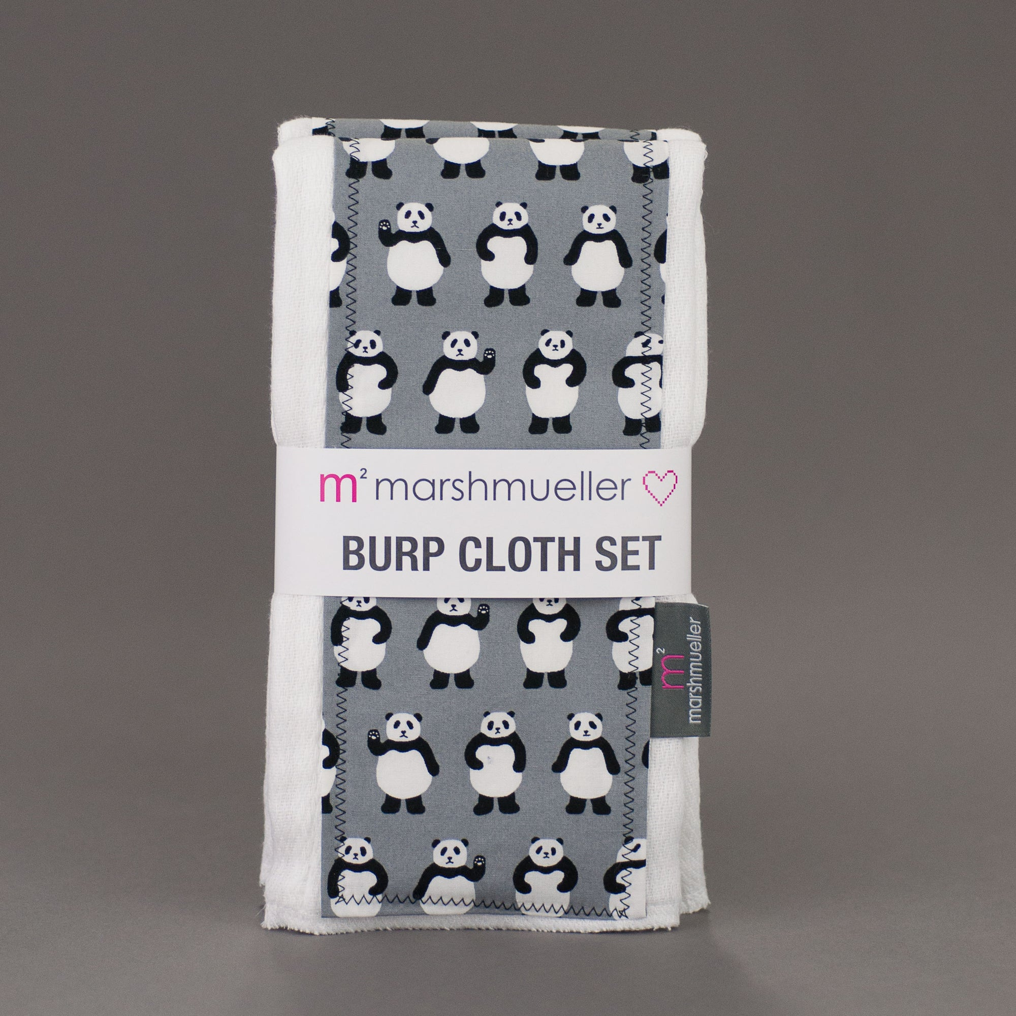 Teeny Panda Bears Burp Cloth Set, Burp Cloth Set, - MarshMueller
