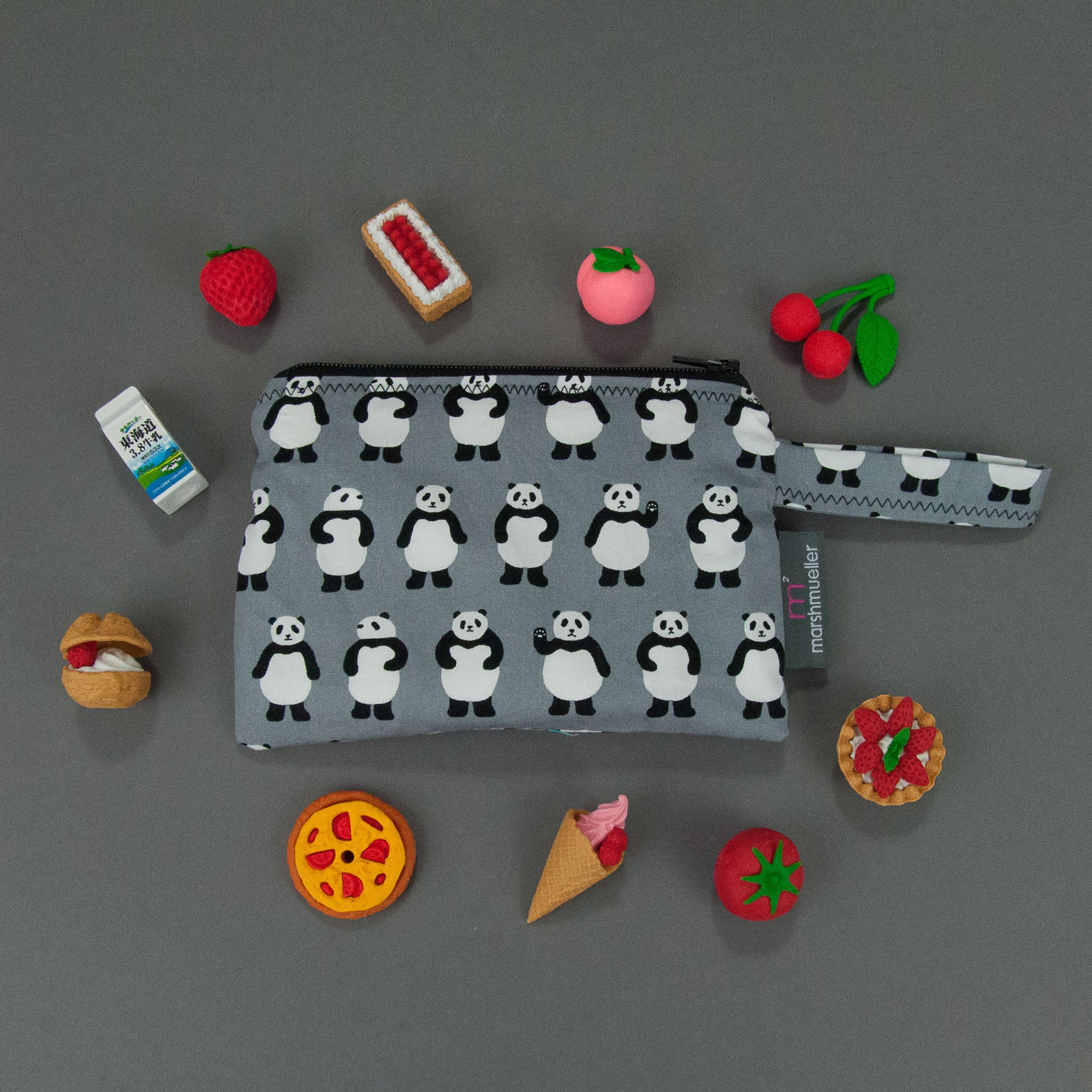 Teeny Panda Bears Reusable Snack Bag