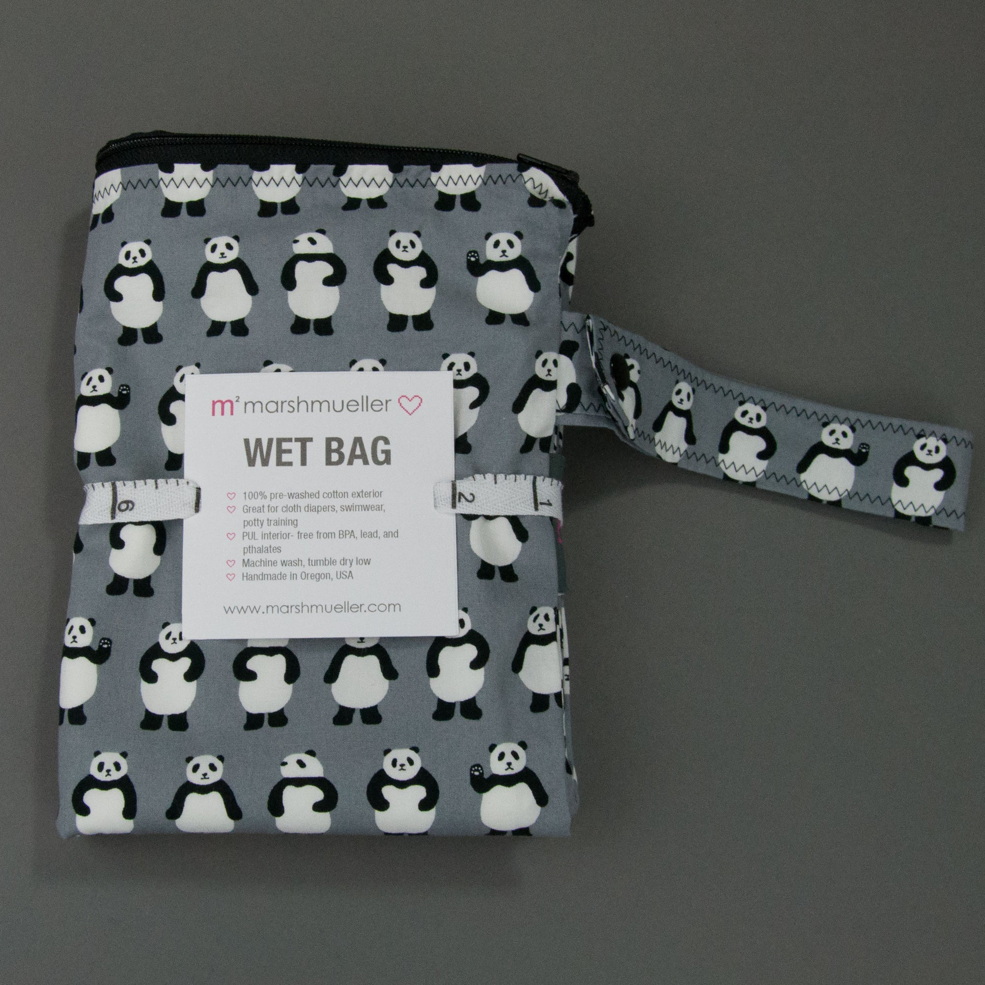 Teeny Panda Bears Wet Bag