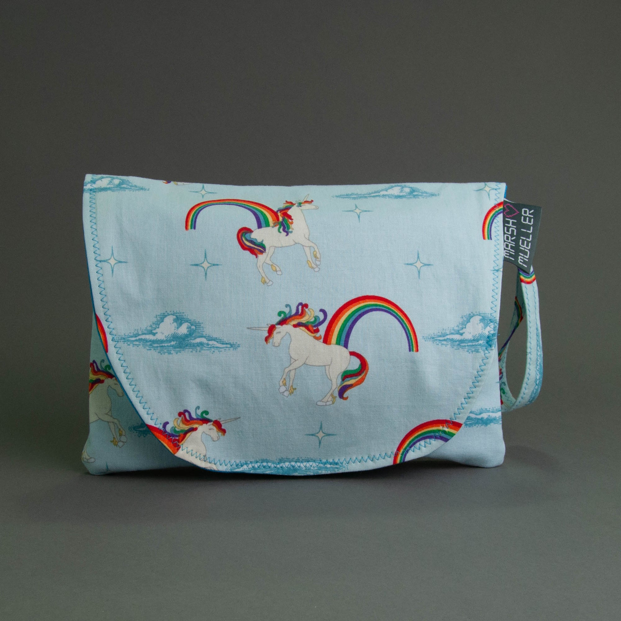 Unicorns + Rainbows Diaper + Wipe Clutch