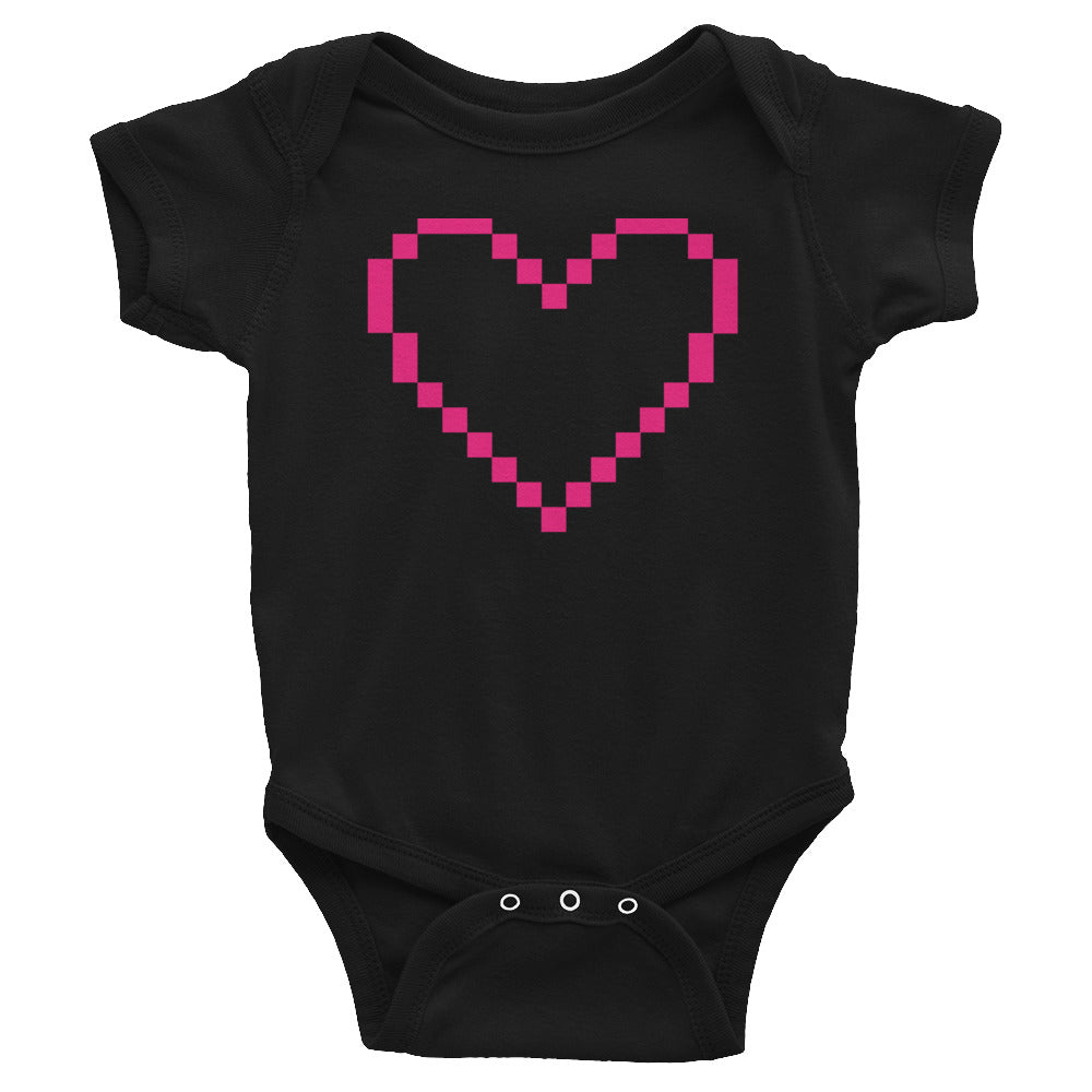 MarshMueller Pixelated Heart Infant Bodysuit, Apparel, - MarshMueller