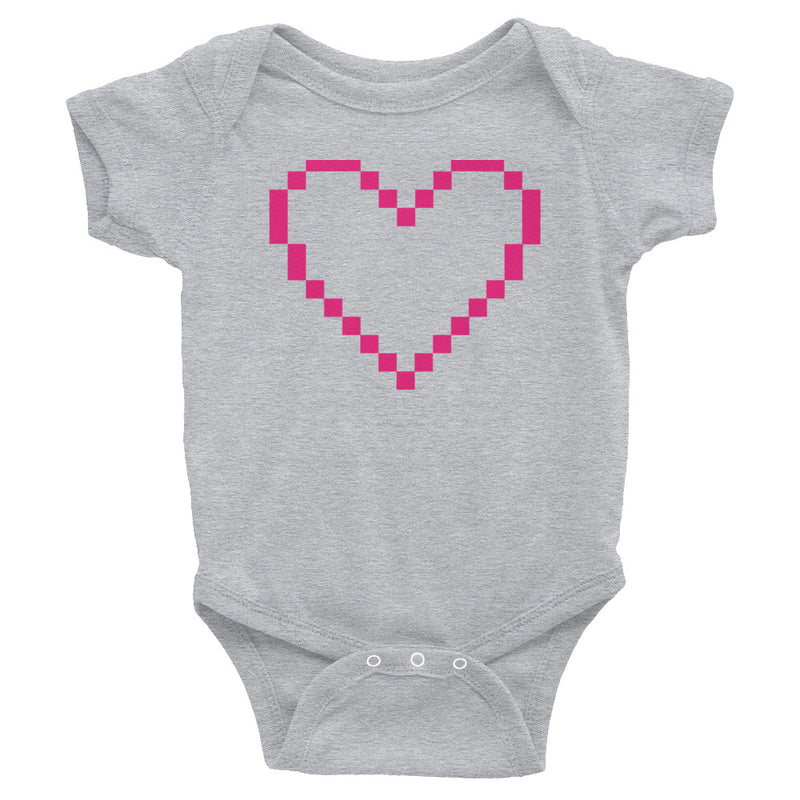 MarshMueller Pixelated Heart Infant Bodysuit