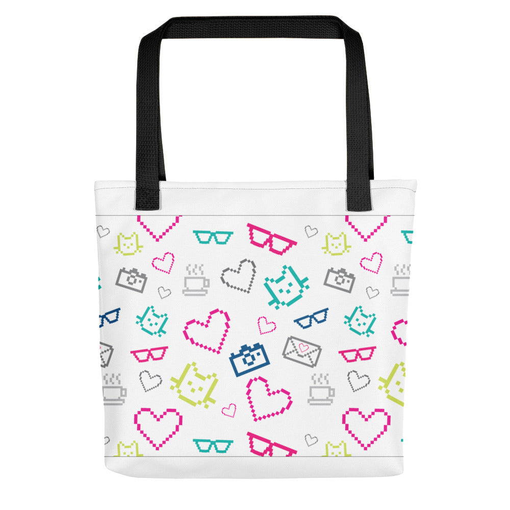 MarshMueller Pixelated Pattern Tote Bag
