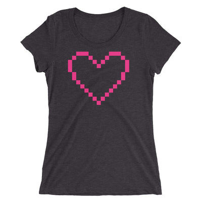MarshMueller Pixelated Heart Women's Short Sleeve Tee - MarshMueller