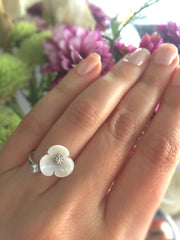 Gold or Silver Flower Ring
