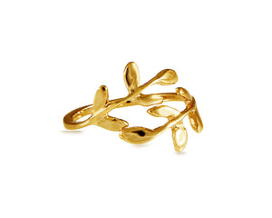 Delicate Gold Leaf Ring