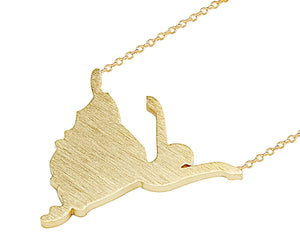 Ballerina/Dancer Necklace in Gold