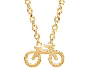 Bicycle Necklace in Gold