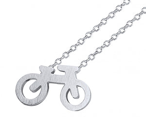 Bicycle Necklace in Silver
