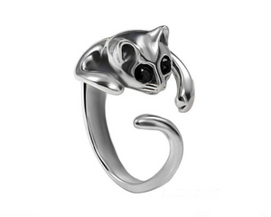 Cat Wrap Around Ring in Silver