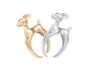 """Fawn'd of You"" Ring in Silver"