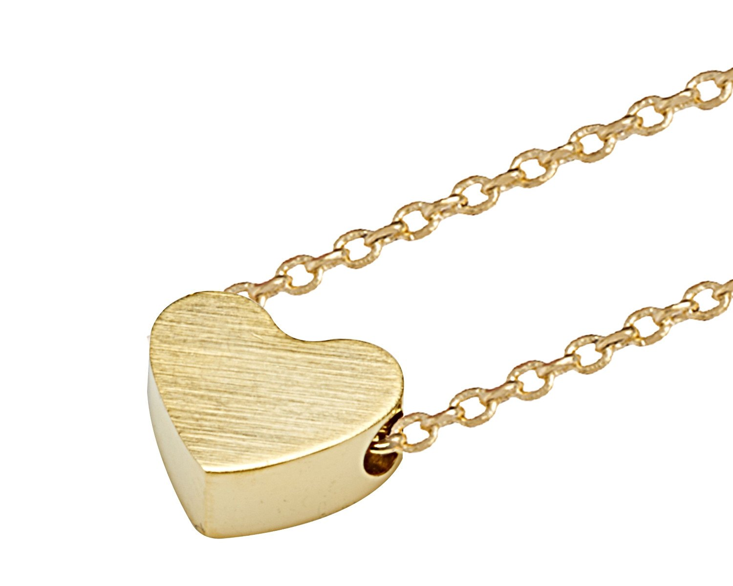 Delicate Heart Necklace in Gold - Sweet Yara