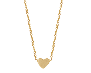 Delicate Heart Necklace in Gold