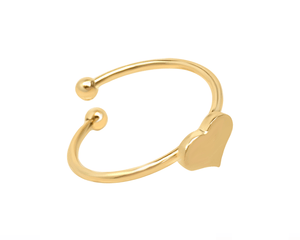 Adjustable Gold Heart Ring
