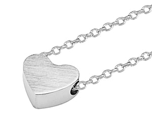 Delicate Heart Necklace in Silver