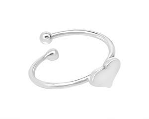 Adjustable Silver Heart Ring
