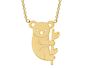 Koala Bear Necklace in Gold